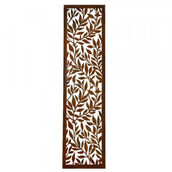 Rost Paravent Blätterranken 0500 x 2000 mm
