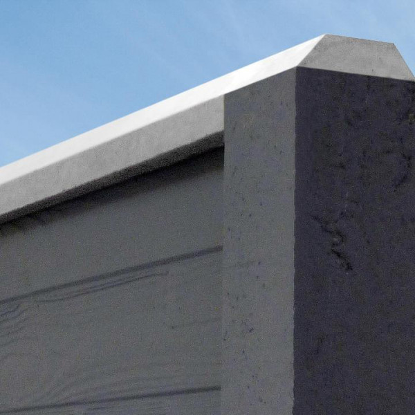 Betonzaun Standard - Oberlatte Trapez DS