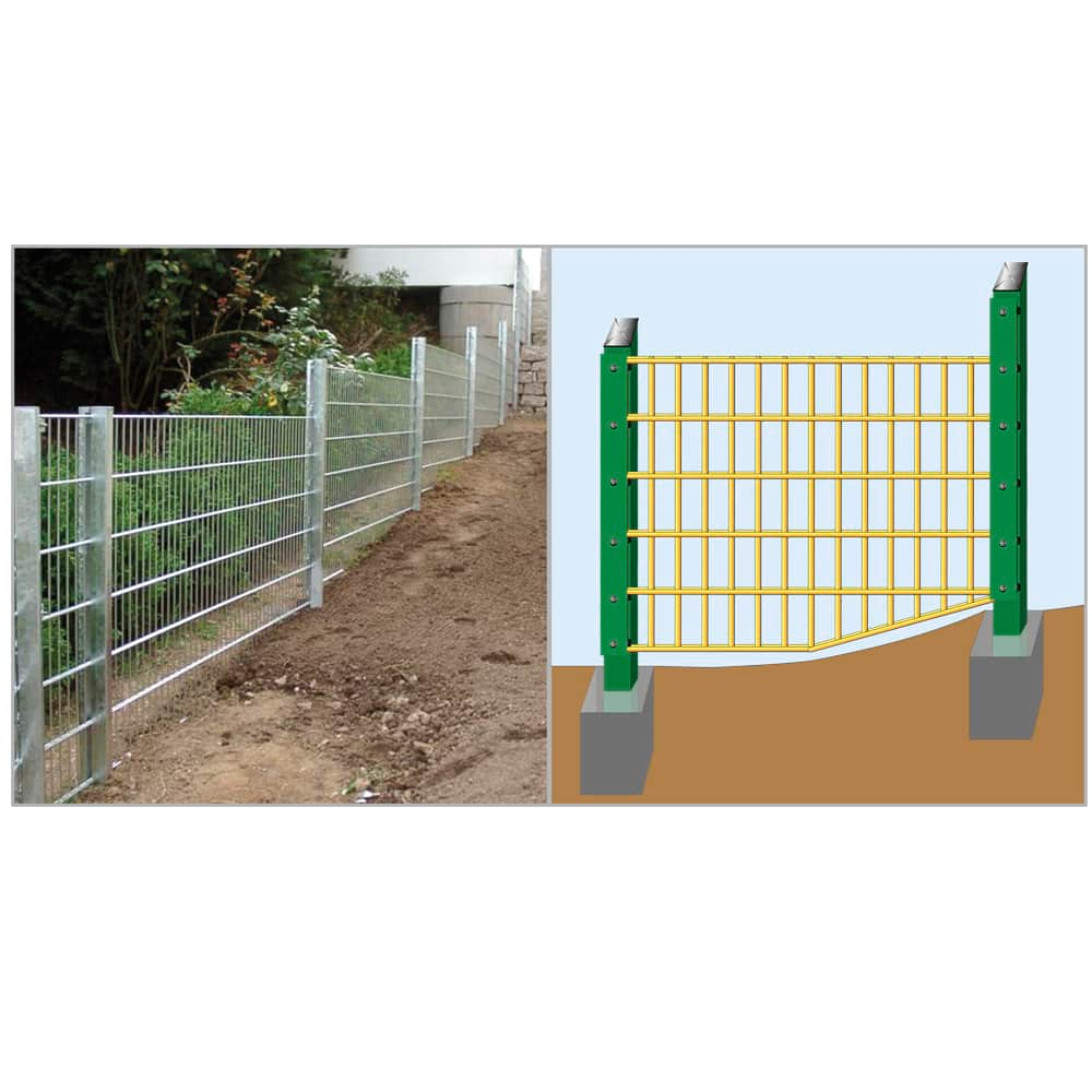 Zaunpfosten grün Pfosten Typ HS für Gittermatten mit Abdeckleiste Mittelpfosten
