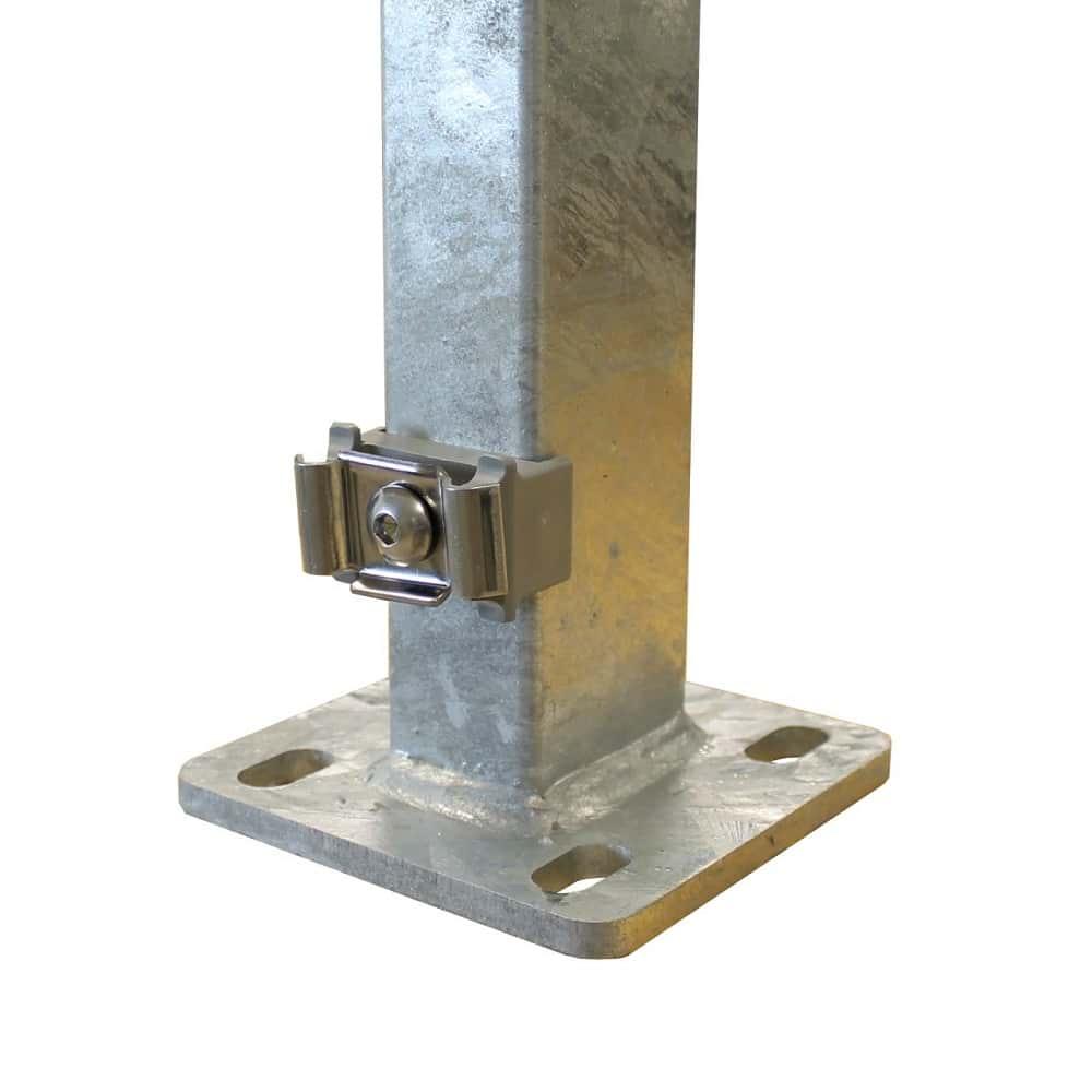 Doppelstabmatten Metallfosten zum aufdübeln