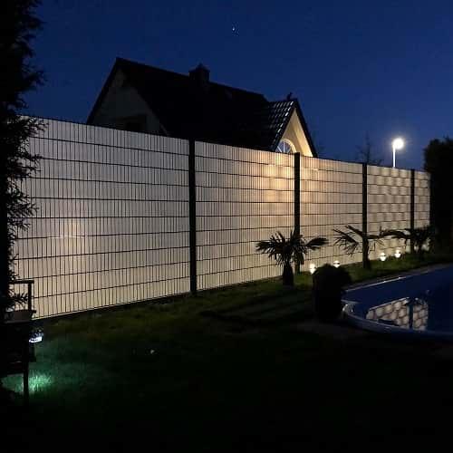 Hart PVC transparente Sichtschutzstreifen einfädeln