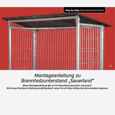Bauanleitung Unterstand für Holz