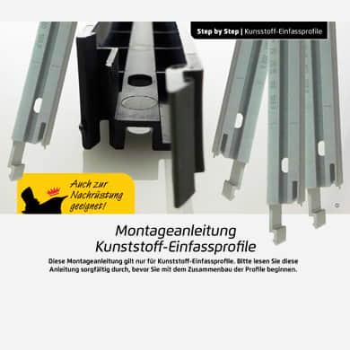 Bauanleitung für Kunststoff- Einfassprofile