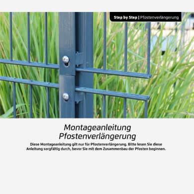 Bestehenden Zaun mit einer Pfostenverlängerung erhöhen