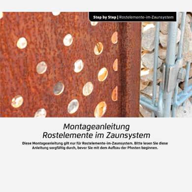 Rost-Deko Sichtschutzwände aus Stahl Bauanleitung
