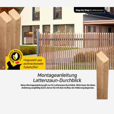 Bauanleitung Sichtschutz Rhombus Design Zaun