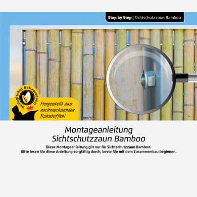 Bambusrohre Bambusstäbe Bamboo