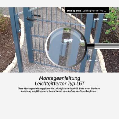 Stabgitterzaun Leichtgitter Tor